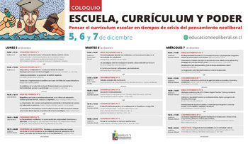 Programa Coloquio Escuela, curriculum y poder