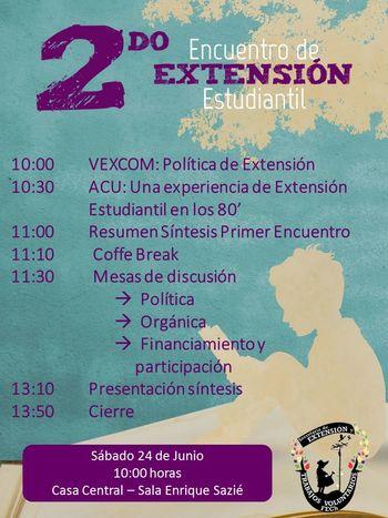 2do Encuentro de Extensión Estudiantil[Programa]