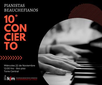 10mo Concierto Pianistas de Beauchef - 2017