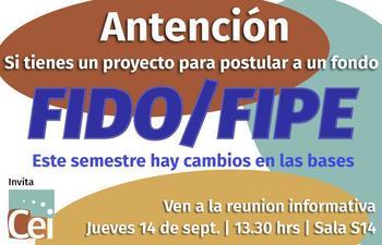 Reunión Informativa FIDO/FIPE, Jueves 14 Sept